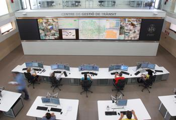 Traffic management center from above